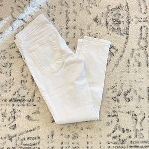 Free People White Ankle Skinny Jeans